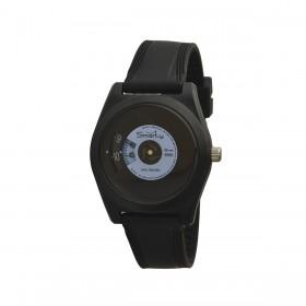 Orologio da polso unisex SMARTY VINILE in silicone nero e azzurro SW045C03