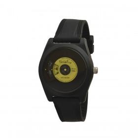 Orologio da polso unisex SMARTY VINILE in silicone nero e giallo SW045C08