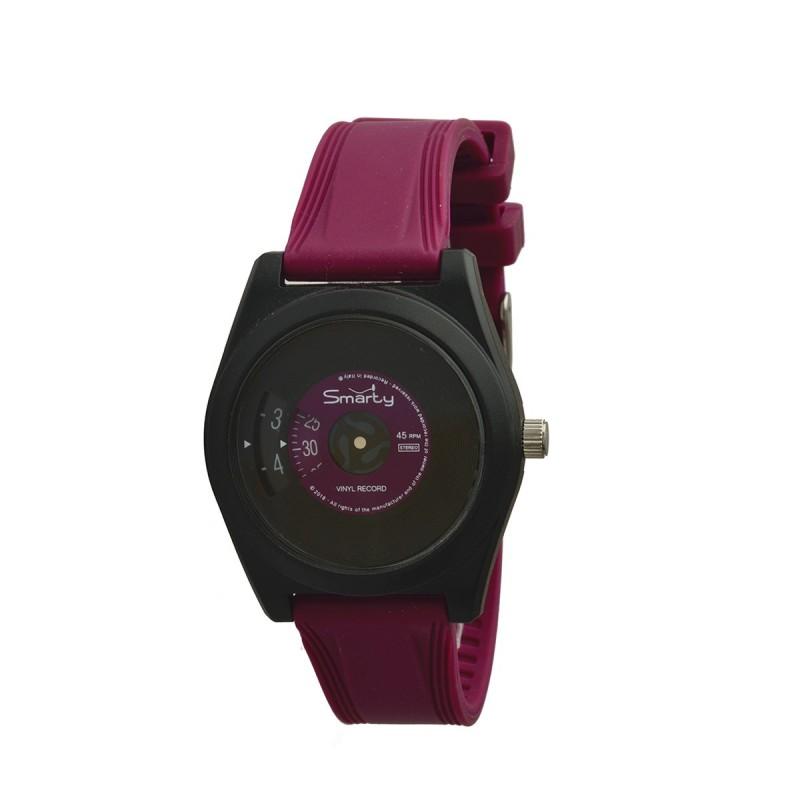 Orologio da polso unisex SMARTY VINILE in silicone fucsia SW045D05