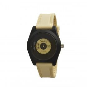 Orologio da polso unisex SMARTY VINILE in silicone giallo SW045D04