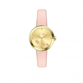MISS LAURA DAISY women's wristwatch in steel and pink leather DAI16.4.4