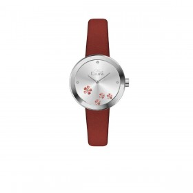 MISS LAURA DAISY women's wristwatch in steel and red leather DAI6.3.3