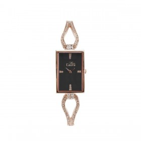 MISS LAURA JADE women's wristwatch rose gold steel dial black JAD5.1.5
