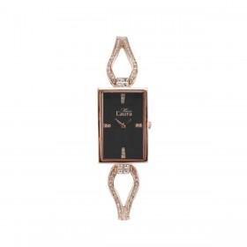 Orologio da polso donna MISS LAURA JADE in acciaio oro rosa quadrante nero JAD5.1.5