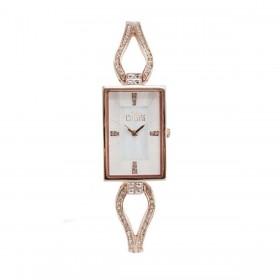 MISS LAURA JADE women's wrist watch in pink steel white dial JAD5.2.5