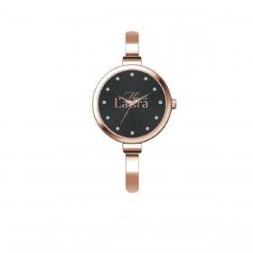 Orologio da polso donna MISS LAURA AMBER in acciaio rosa quadrante nero AMB5.1.5