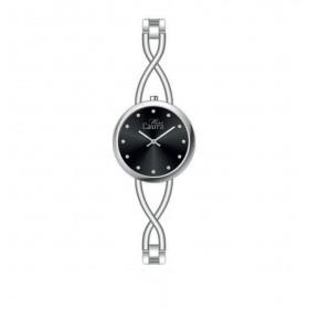 MISS LAURA IRIS women's wristwatch in black dial steel IRI3.1.3