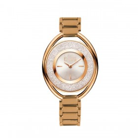 MISS LAURA women's wristwatch in gold steel and white dial RUB4.3.4