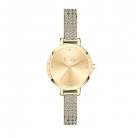 Orologio da polso donna MISS LAURA IVY in acciaio quadrante oro IVY4.4.4