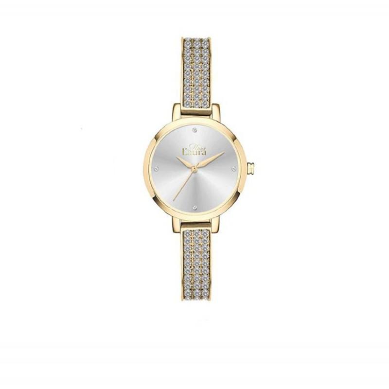 Orologio da polso donna MISS LAURA IVY in acciaio oro quadrante argento IVY4.3.4