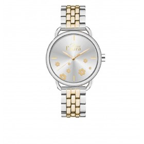 MISS LAURA AGATE women's wristwatch in steel and gold AGA3 / 4.3.3