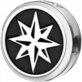 Charm man BROSWAY TJ MAN steel pvd black wind rose BTJN86