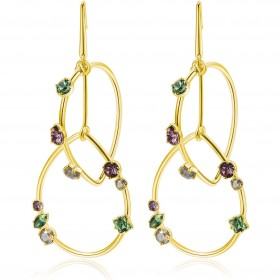 BROSWAY AFFINITY women's drop earrings in gold brass and swarovski BFF93