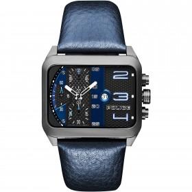 Orologio cronografo uomo POLICE URBAN STYLE in acciaio e pelle blu R1471607003