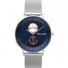 Orologio multifunzione uomo POLICE BERKELEY in acciaio quadrante blu R1453293002