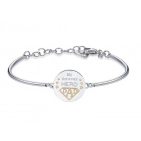 Bracciale donna bangle BROSWAY CHAKRA DAD in acciaio con incisione BHK273