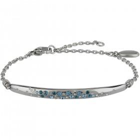 Bracciale donna BREIL ILLUSION in acciaio e cristalli azzurri TJ2654