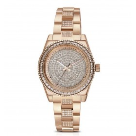 BROSWAY DECO women's watch in rose gold pvd steel and crystals WDC13