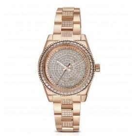 Orologio donna BROSWAY DECO in acciaio pvd oro rosa e cristalli WDC13