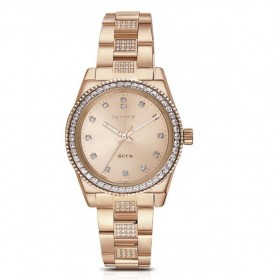 BROSWAY DECO women's watch in rose gold pvd steel and WDC16 crystals