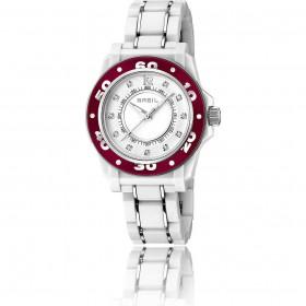 Orologio solo tempo donna BREIL MANTALITE in acciaio bianco e cristalli TW1024