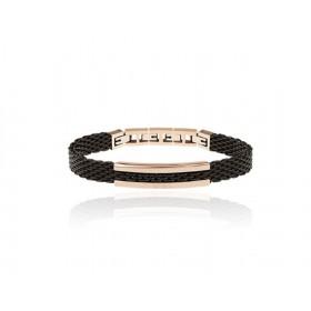 SNAP BREIL man bracelet in black steel and rose gold element TJ2743
