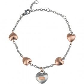 Bracciale donna BREIL KILOS OF LOVE in acciaio con elementi a cuore TJ2727