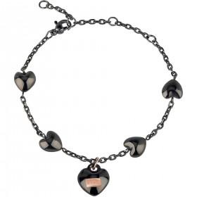 Bracciale donna BREIL KILOS OF LOVE in acciaio nero lucido TJ2728