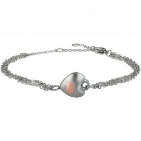 Bracciale donna BREIL KILOS OF LOVE in acciaio satinato con elemento cuore TJ2729