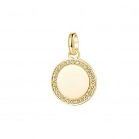 Pendente donna BROSWAY TRES JOLIE in acciaio oro e cristalli bianchi BTJM364