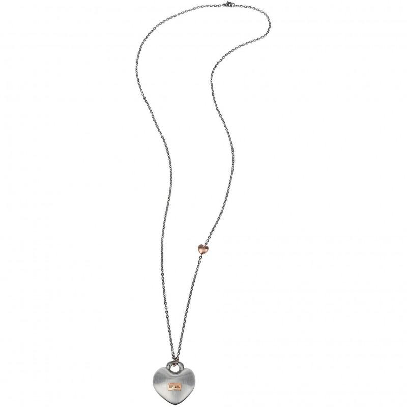 Collana pendente donna BREIL KILOS OF LOVE in acciaio satinato TJ2735