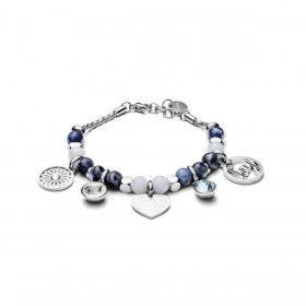 BROSWAY TRES JOLIE woman bracelet in sodalite jade steel and BTJMS794 crystals