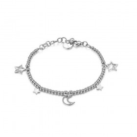 BROSWAY CHANT woman bracelet in steel with pendants and BAH11 crystals