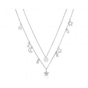 Collana donna BROSWAY CHANT in acciaio con medagliette e cristalli BAH03