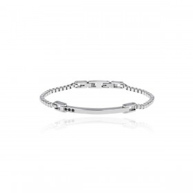 BREIL BLACK DIAMOND men's bracelet in stainless steel and black diamonds TJ2744