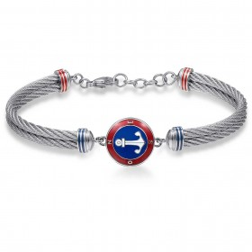 Semi-rigid bracelet BROSWAY HORIZON in steel and colored enamel BHO11