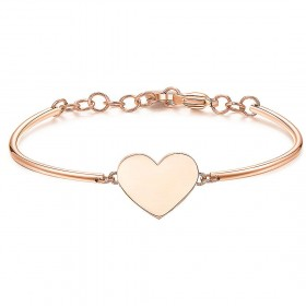 Woman bangle BROSWAY CHAKRA bangle in rose gold PVD steel with BHK305 heart