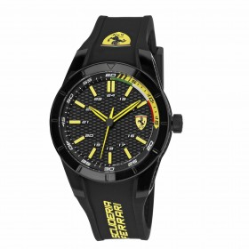 SCUDERIA FERRARI men's Time Only Watch in steel and silicone FER0830302