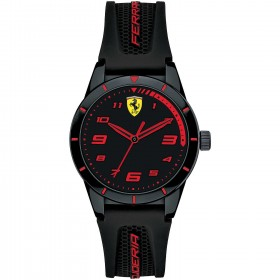 Only Time Clock for men SCUDERIA FERRARI REDREV in steel and silicone neo FER0860006