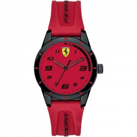 SCUDERIA FERRARI REDREV man's only time watch in steel and red silicone FER0860008