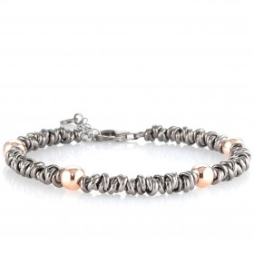 GERBA LOVE BOND 013 men's bracelet in rosé silver LOVEBOND-013