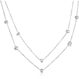 BROSWAY EASY two-wire woman necklace in brass and zirconia BEY02