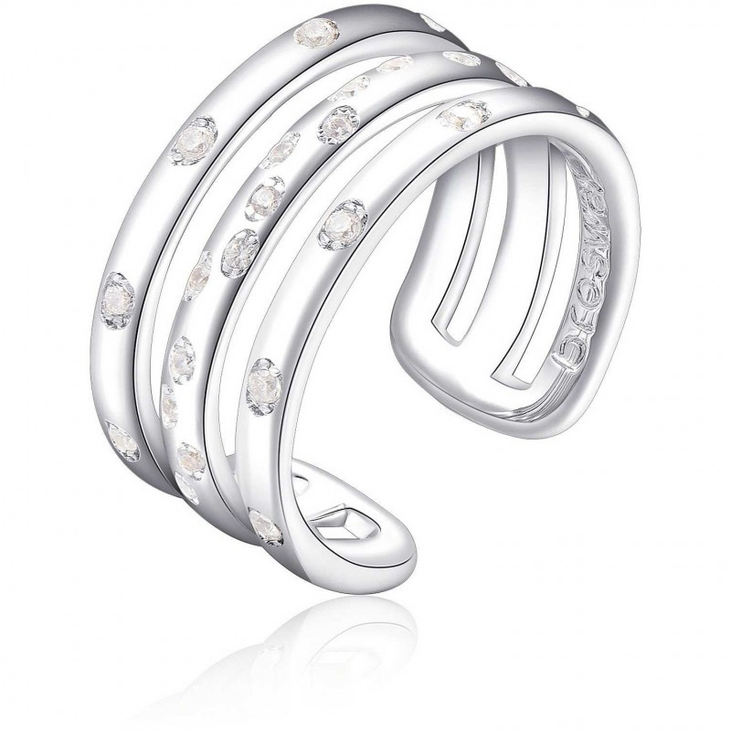 BROSWAY EASY three-wire ring for woman in brass and zirconia BEY32