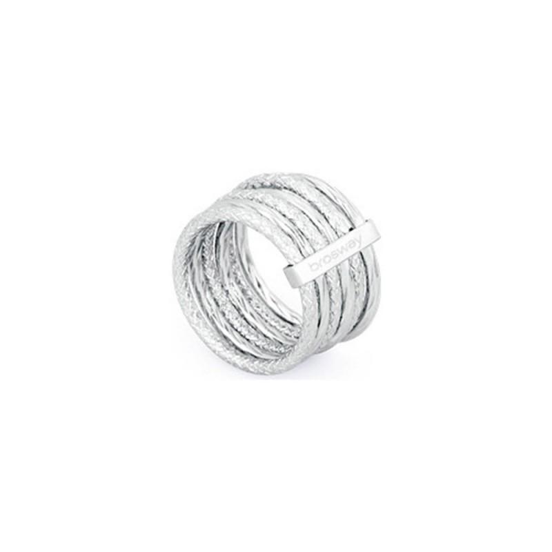 BROSWAY FALLING STAR women's multi-thread ring in BFG31B steel
