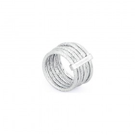 BROSWAY FALLING STAR women's multi-thread ring in BFG31C steel