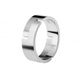 BROSWAY CLASS men's ring in steel, size 19 BCL31A