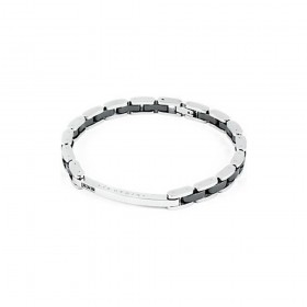 BROSWAY ELEGANCE men's bracelet in steel and ceramic BEG02