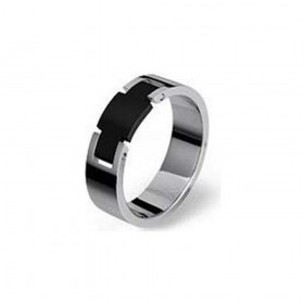 BROSWAY ESSENCE men's ring in steel and black pvd BES12C