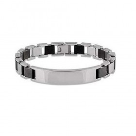 BROSWAY ETHON men's bracelet in light and dark steel BET01