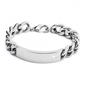 BROSWAY GLAMOR men's bracelet in steel and BGL04 diamond
